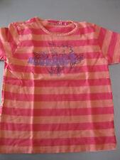 Shirt T-Shirt Gr. 128 oder 8 X-Mail Rot/Orange Streifen mit Motiv wunderschön