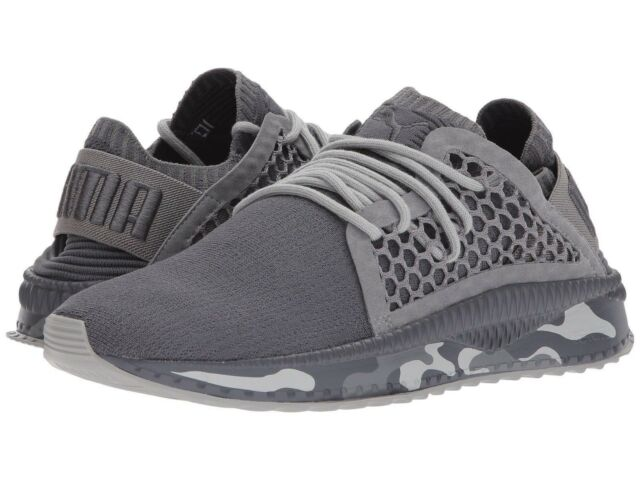 be1372713be Men Athletic Sneakers Puma Running Shoes Tsugi Netfit evoKNIT Camo Gray  36637001