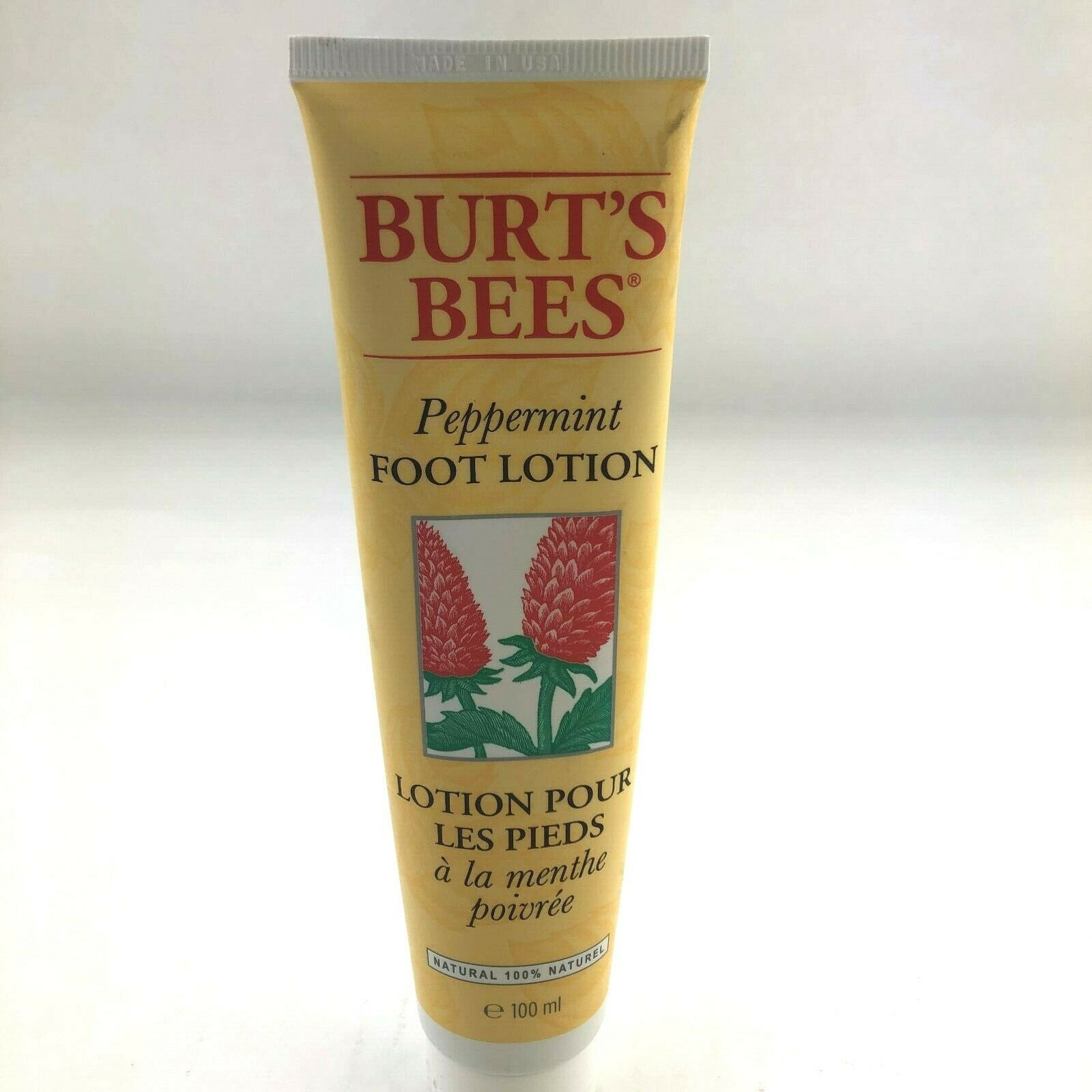 Burt's Bees Natural Peppermint Foot Lotion Skin Care 3.38 oz Brand New 2