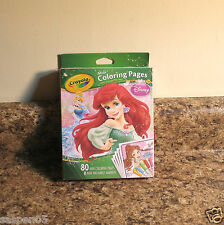 Crayola DISNEY PRINCESS Mini Coloring Pages With Markers Art Activity Set NEW