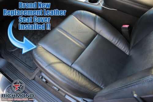 2011 Chevy Silverado 1500 2500 HD LT Driver Side Bottom Leather Seat Cover Gray