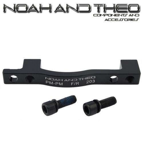 Ultralight Disc Brake Adapter Rear 203mm POST PM Frame to PM Brake Caliper BLACK