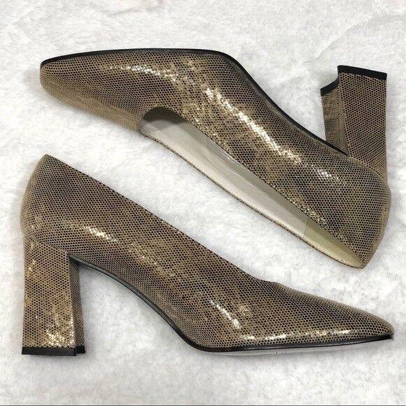 Stuart Weitzman  375 NWT gold Snake Print Heels