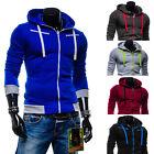 Stylish Men Slim Fit Sweater Casual Zip Hooded Fleece Jacket Soprt Coat Hoodie