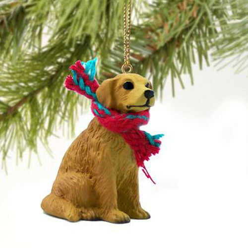 golden retriever dog christmas ornament scarf figurine ebay