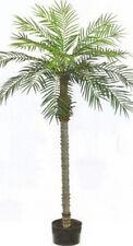 7' Artificial Phoenix Palm Tree Plant Pot Arrangement Flower Sago Date Pool Den