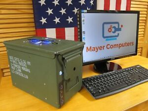 Handcrafted Powerful Computer in a Genuine US Military Ammo Box - Unique