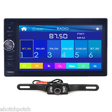 "Camera+2Din 6.5"" Car Stereo DVD CD MP3 Player HD In Dash Bluetooth Ipod TV Radio"