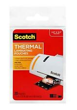 Scotch Thermal Laminating Pouches 25 X 35 Inches Wallet Size 20 Pack