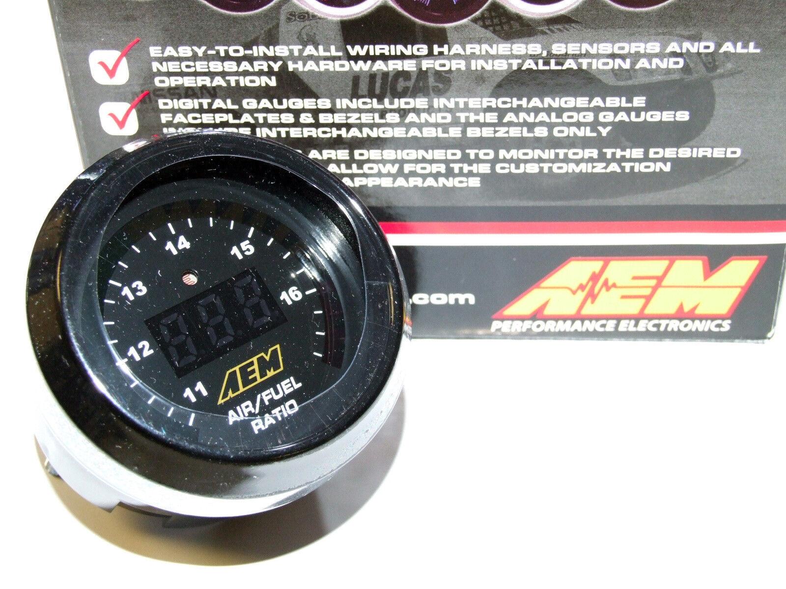 AEM UEGO Digital Wideband O2 Air Fuel Ratio AFR Gauge 6-in-1 WBO2 ...