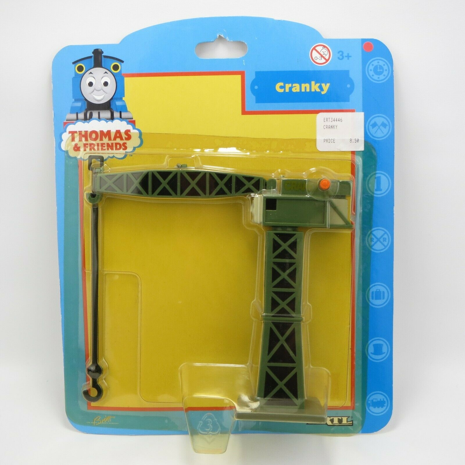 CRANKY THE CRANE - THOMAS & FRIENDS - VINTAGE 2000 ERTL DIE-CAST TRAIN ACCESSORY