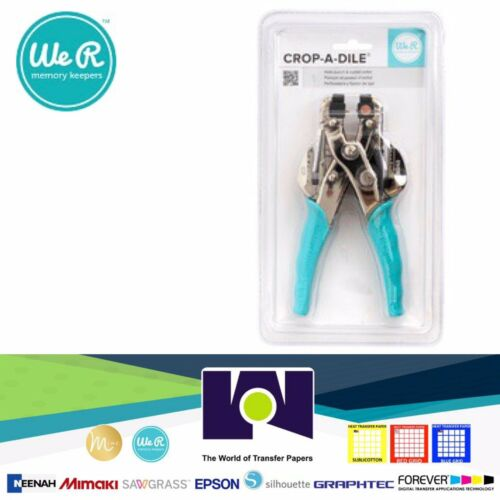 We R Memory Keepers Crop-A-Dile Eyelet and Snap Punch, Blue Handle
