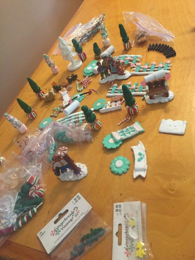 Huge Lot Of Supplies To Make Fake Gingerbread House W2 HTF