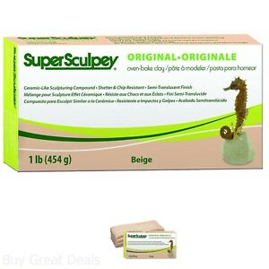 Super-Sculpturing-Compound-1-Lb-Box-Beige-Polymer-Clay-Oven-Bake-Flesh