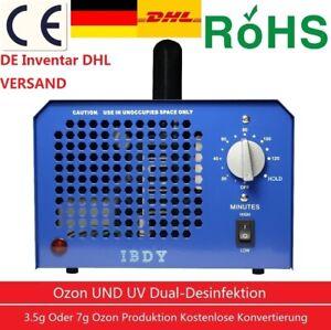 Profi Ozongenerator mit UV Lampe 7g 3,5g/h Luftreiniger air purifier Ozongerät