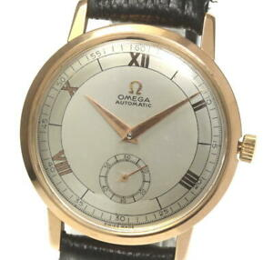 OMEGA-antique-18K-Pink-Gold-cal-491-Silver-Dial-Automatic-Men-039-s-Watch-s-521059
