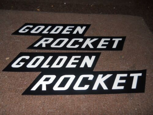 1958 OLDSMOBILE GOLDEN ROCKET TRIPOWER VALVE COVER DECALS PAIR NEW CORRECT