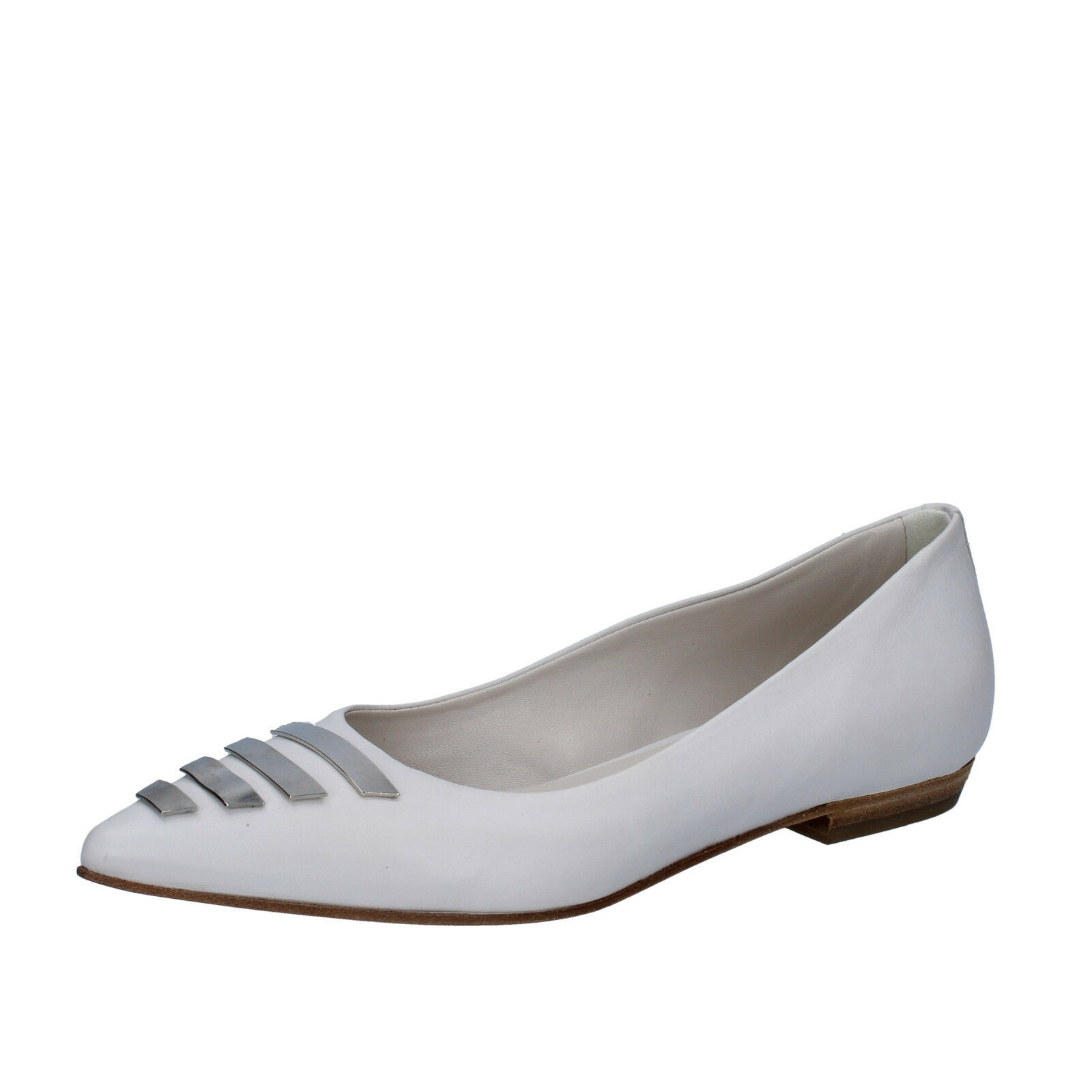 Scarpe donna VIC 37 BZ510-B EU ballerine bianco pelle BZ510-B 37 cbffa2