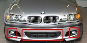 Details About Bmw New 3 Series E46 Saloon Touring Front M Sport Bumper Center Grill Set Mesh