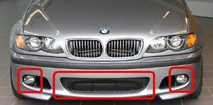BMW-serie-E46-Saloon-Touring-Nuevo-3-DELANTERO-PARRILLA-CENTRO-DE-PARACHOQUES-M-Sport-Conjunto-de