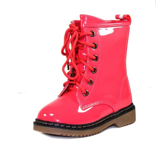 ALYSON-01KA Bady Kids Toddlers Lace Up Boot Party Unisex Dree Shoes Coral  7