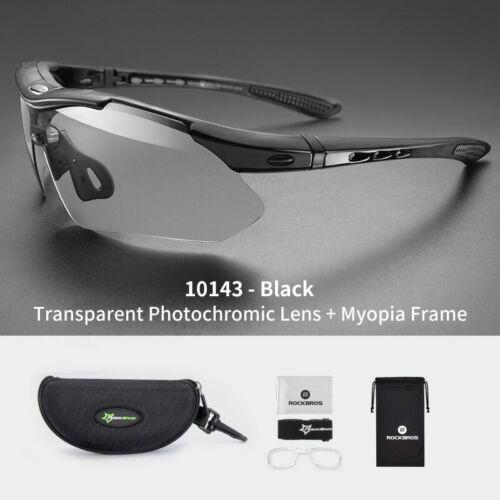 ROCKBROS Photochromic Cycling Glasses Bike Bicycle Glasses Sports Men/'s