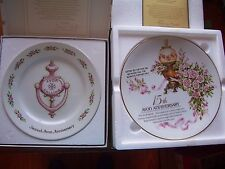 Set of 2 Avon Anniversary Collector's plates:  15th Rose & 2nd Door Knocker NIB