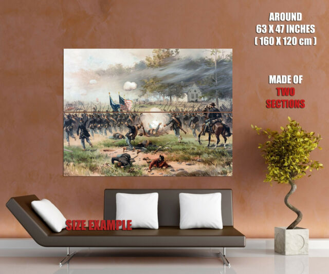 Cannons Antietam Civil War Battlefield 3.2 Wall Art Canvas Picture Print