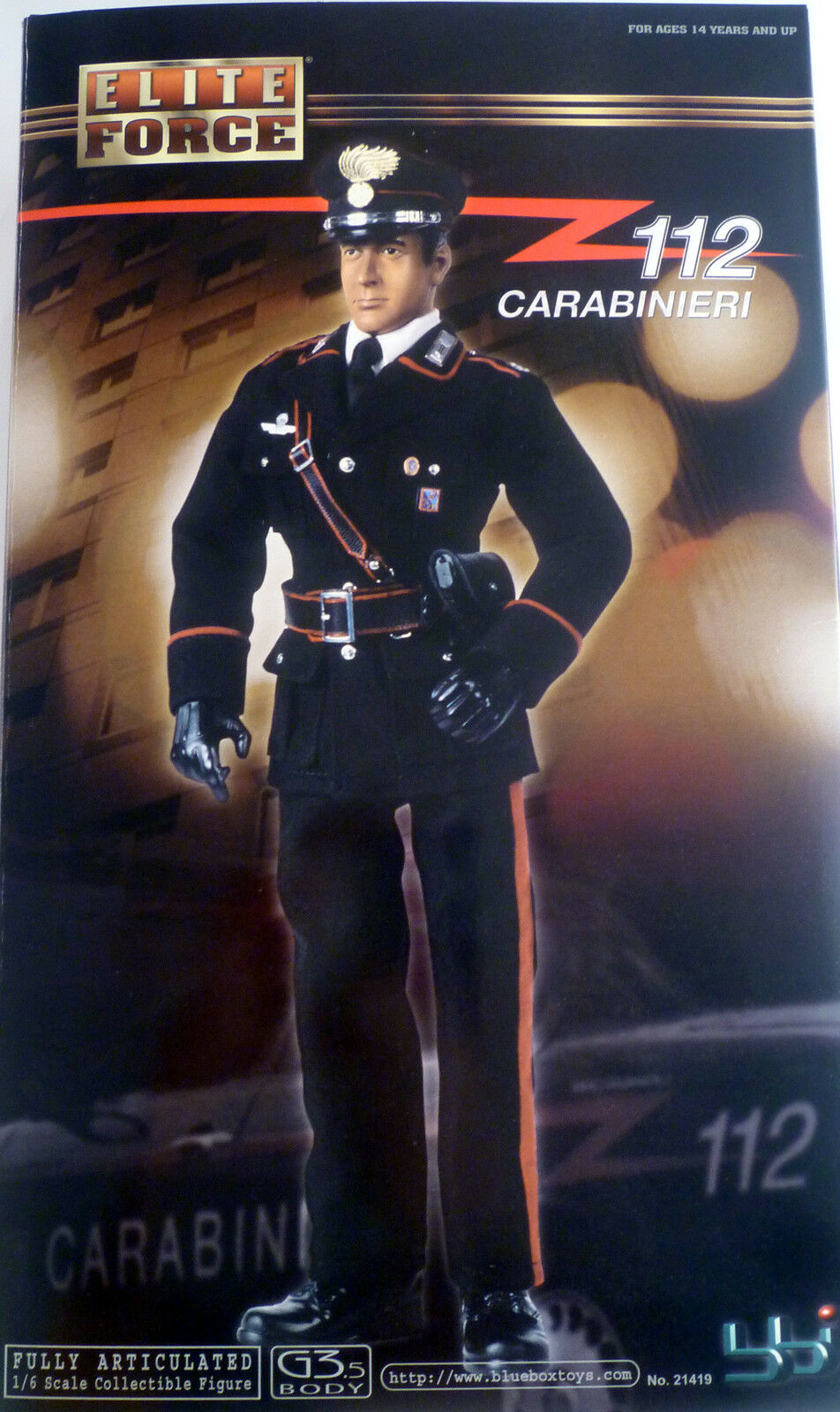 Bbi Elite Force italian police CARABINIERI fully articulated 1 6 figure NIB