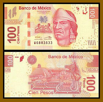 UNC Prefix K Mexico Banknote p124 100 Pesos 10.6.2013 Serie AG