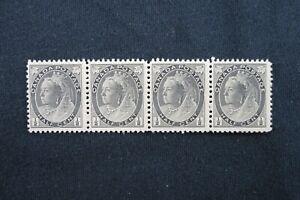 Kengo-1897-Canada-stamp-74-Mint-NG-Queen-Victoria-Numeral-strip-4-CV-80-82