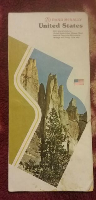 1979 Rand McNally Highway Map of the United States vintage