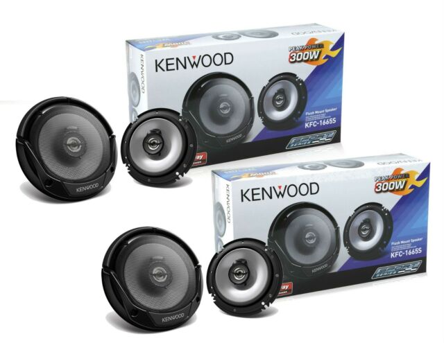 TWO Pairs of Kenwood KFC-1665S 6.5