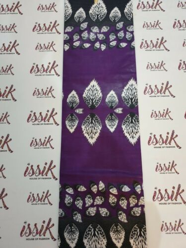 se vende por yarda Tejido púrpura ANKARA 100/% algodón Estampado Textil De Cera africano.