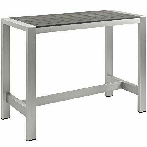 Modway S Aluminum Patio Bar Table