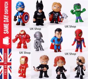 12x-DC-Comics-Marvel-Los-Vengadores-Juguetes-Figures-Cake-Toppers-Hulk-Batman-Super-Heroes