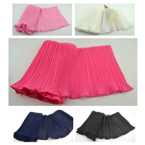 Chiffon Pleated Ruffle Edge Frill Mesh Sewing Trim Ribbon Dress Cloth Craft New