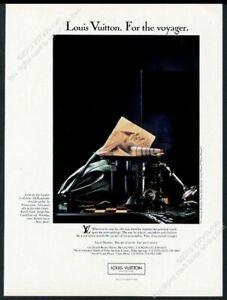 1987 Louis Vuitton green leather Randonnee bag photo vintage print ad