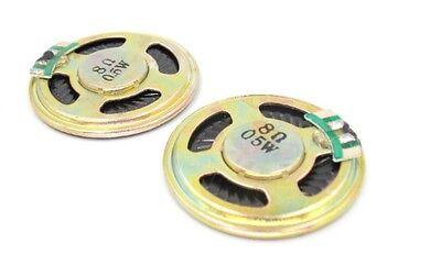 0.25W 8 Ohm Silber Schwarz Aluminiumgehäuse Runder Magnet Lautsprecher 20mm Dia