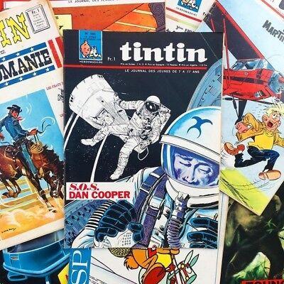 Journal Tintin BD Hergé Dessin Vintage Ancienne Collection Magazine 1960