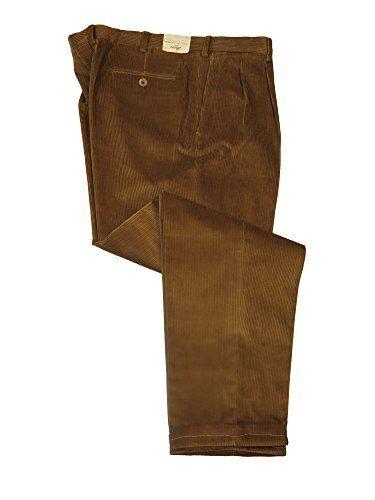Brioni  Men's Cervia Brown Corduroy Straight Leg Casual Pants 44