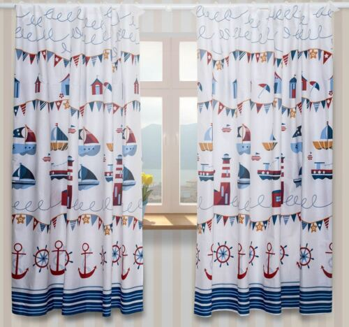 LUXURY BABY ROOM WINDOW CURTAINS in Matching Pattern for Nursery Bedding Set