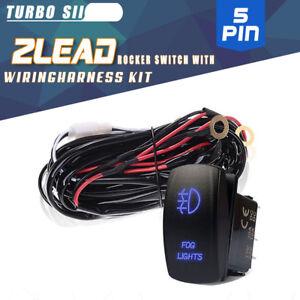 12v 40a led work fog light bar wiring harness kit rocker switchimage is loading 12v 40a led work fog light bar wiring