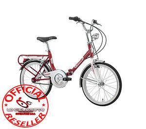 Dettagli Su Bici Firenze Hi Tension 20 Pieghevole Colore Rosso E Bianco 1833 Cinzia