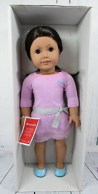 "Bright pink! BNIP 18/"" Authentic American Girl Doll Sweater"