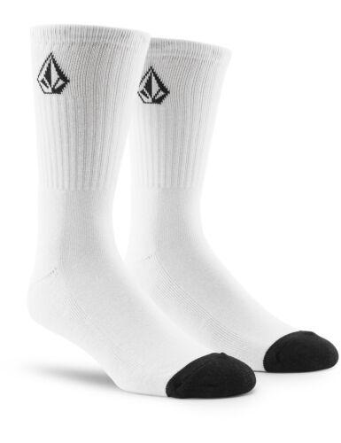 Volcom Full Stone Sock 3 Pack Crew Socks in White