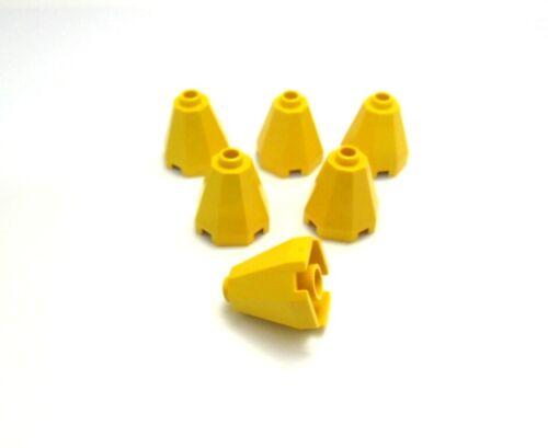 LEGO 6x Konus pietra cono 2x2x1 2//3 Oktagonal in giallo.g10.