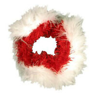 Kyjen Outward Hound Christmas Feather Dog Collar Holiday Feather Collar
