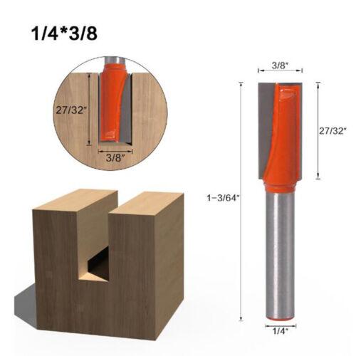 Fraise à Rainurer Routeur Routeur Bits 5mm 6mm Nettoyage Coupe du Bois pour