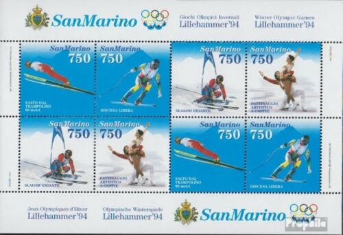 San Marino block18 complete issue unmounted mint never hinged 1994 Olympics